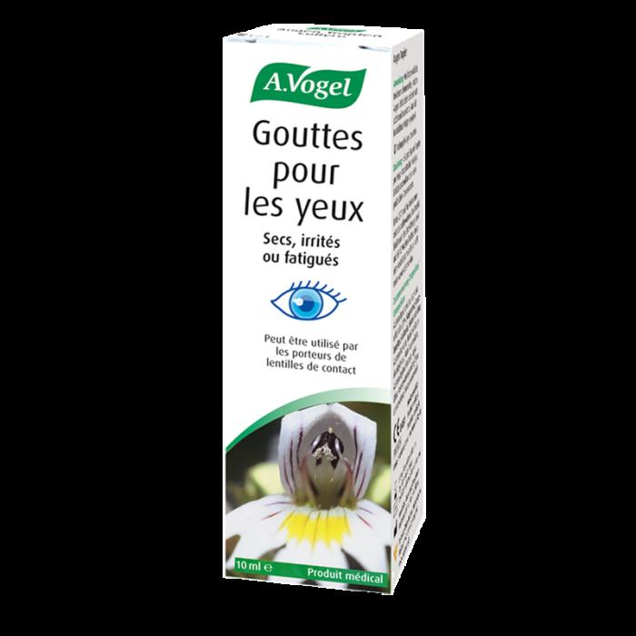 Gouttes pour les yeux - Solution naturelle pour soulager les yeux irrités ou fatigués